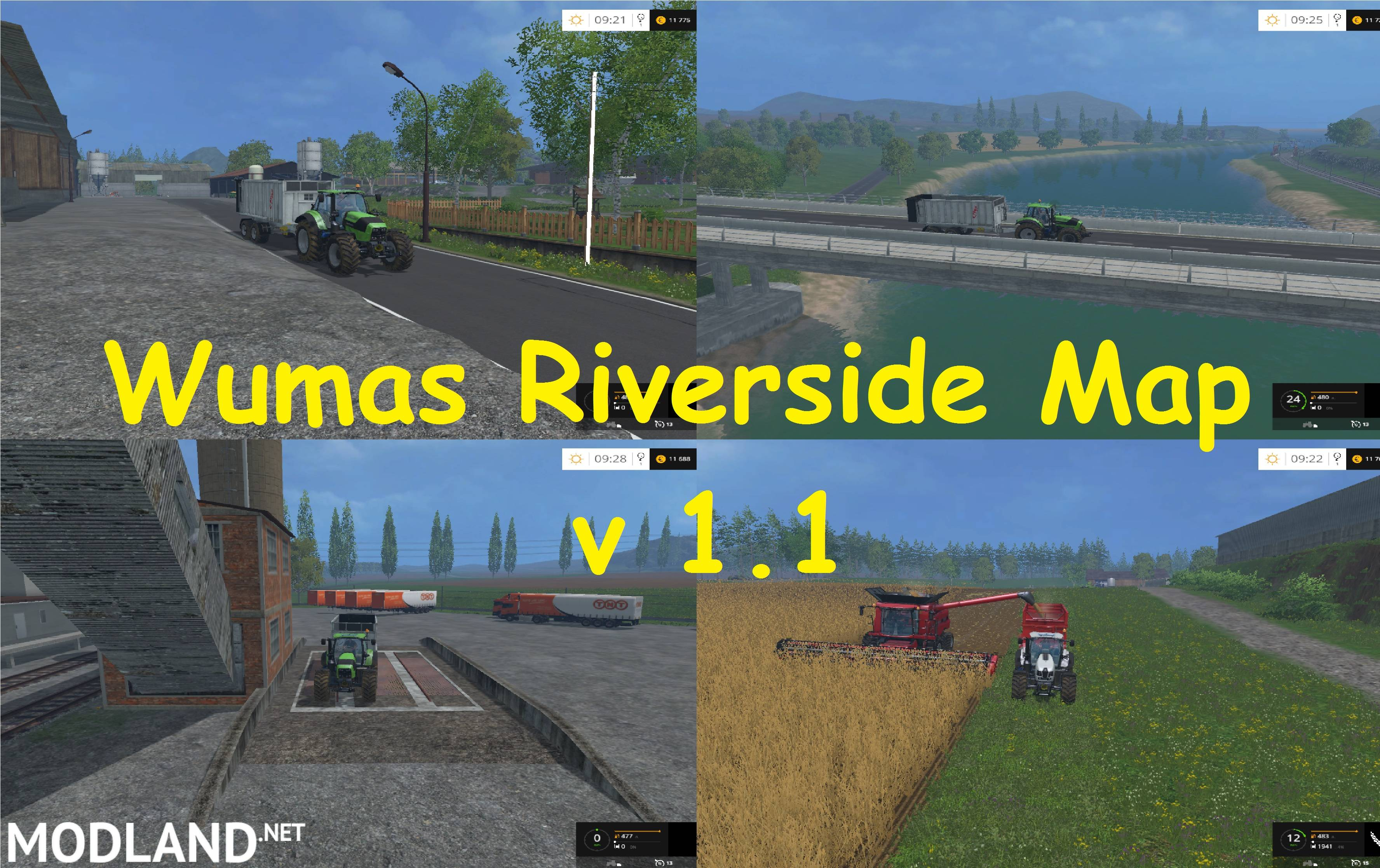 Wumas Riverside Map v 1.1 mod for Farming Simulator 2015 / 15 | FS, LS 2015 mod