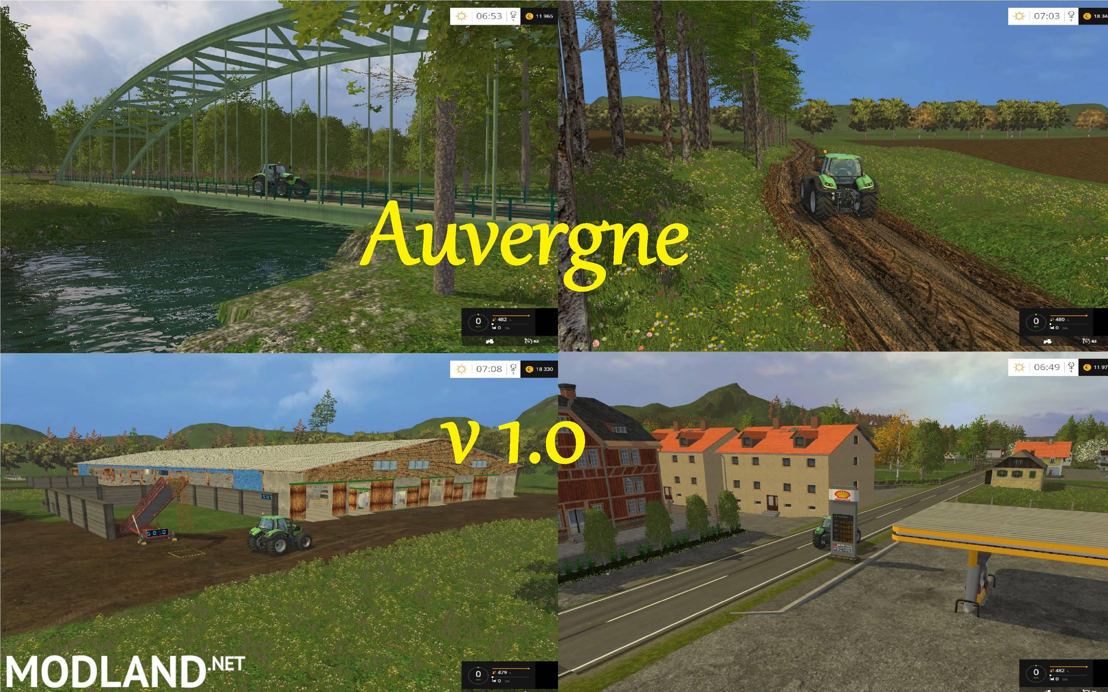 Auvergne Map v 10 Auvergne Map v