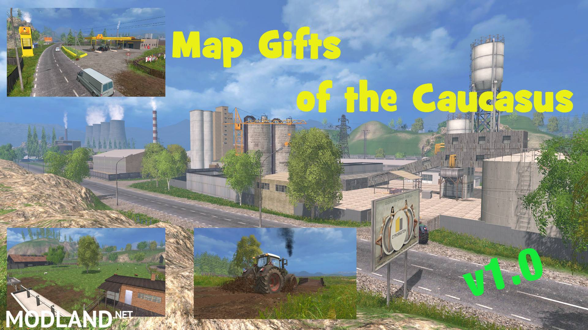 Map Gifts Of The Caucasus V Mod For Farming Simulator - The caucasus map