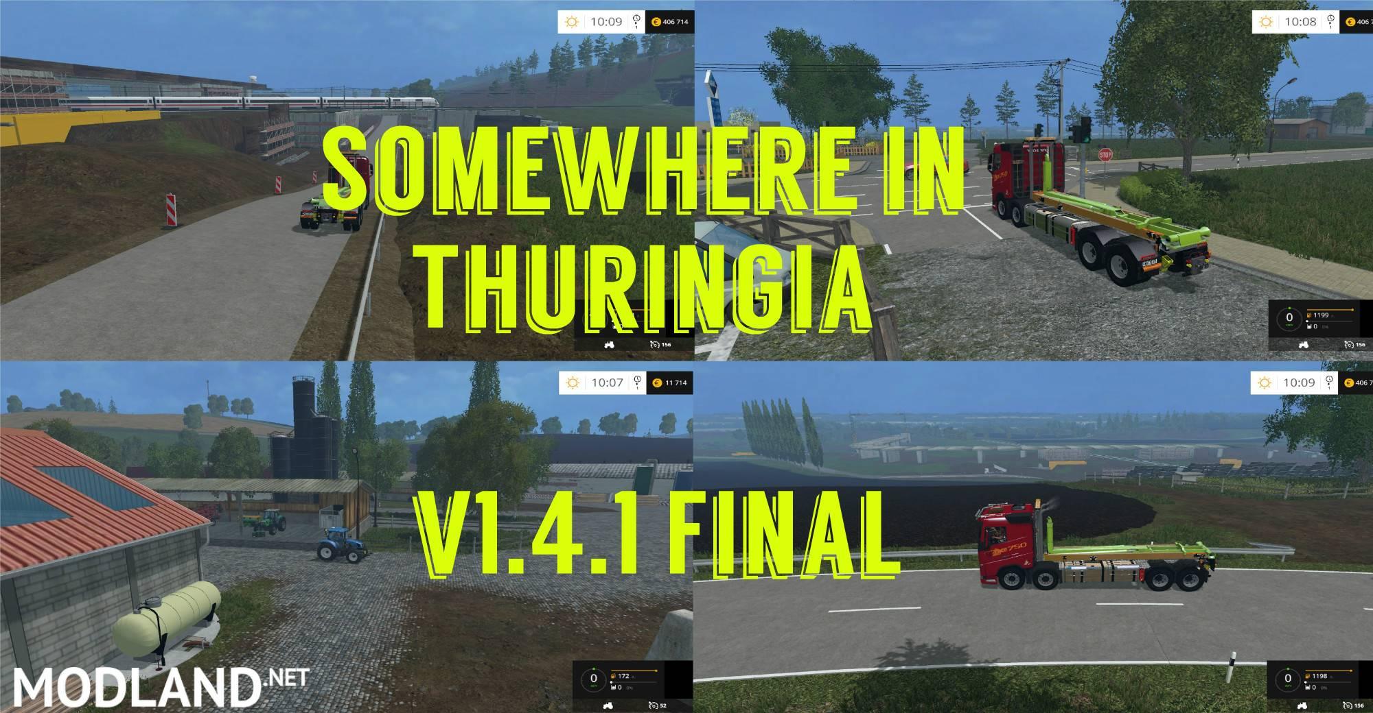 Somewhere in Thuringia Map v 141 FINAL mod for Farming Simulator