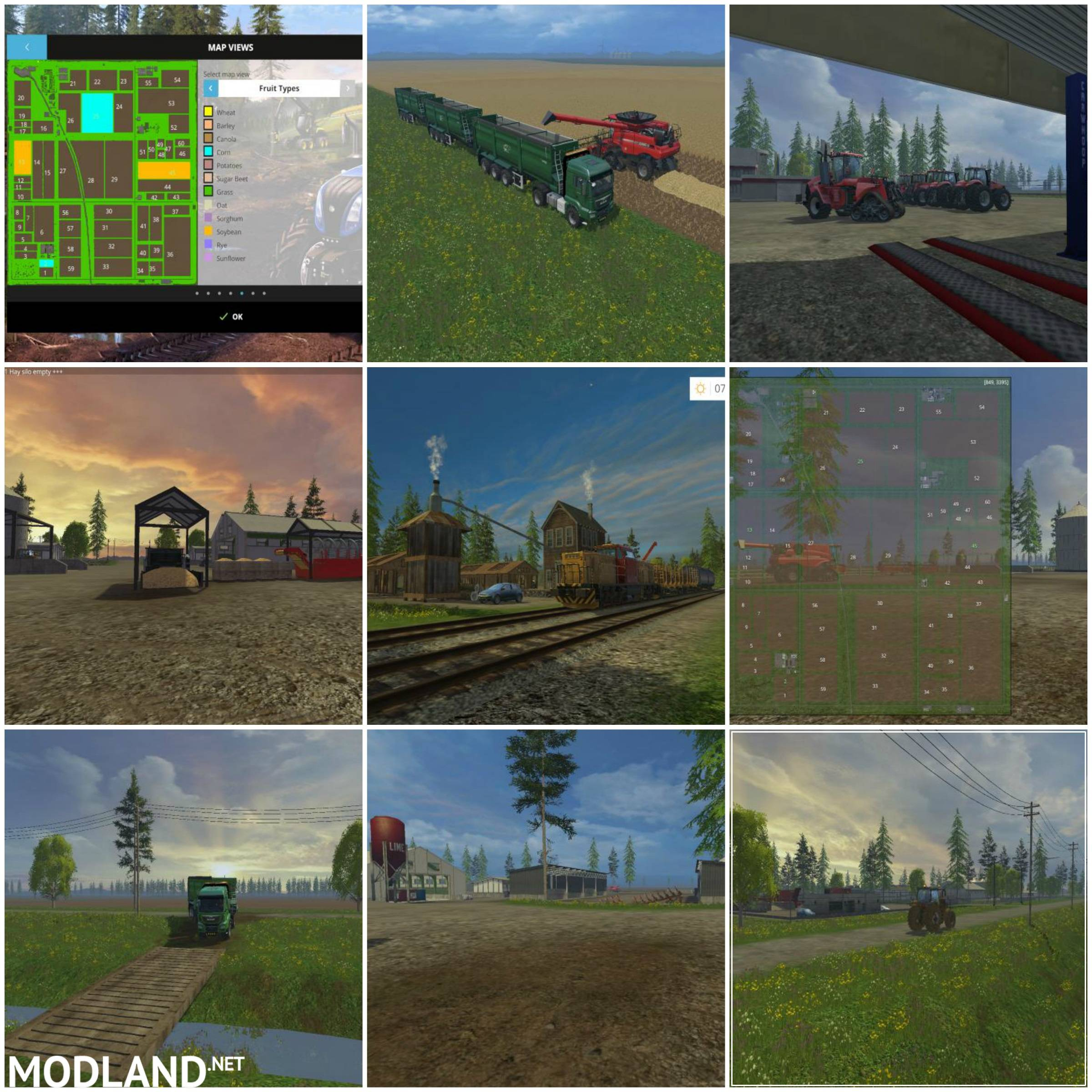 Michigan Cash Crop Acres 4x Map V 1.0 Mod For Farming