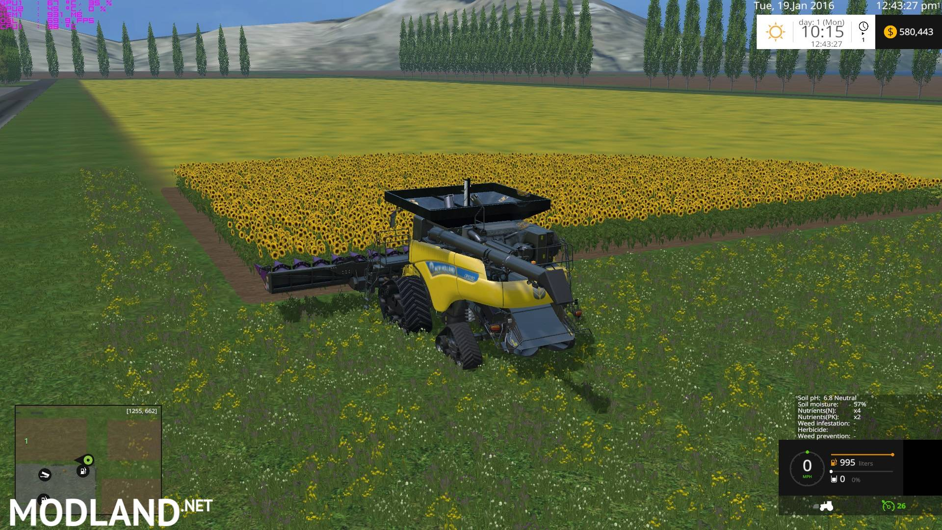 Canadian Prairies Map With Soilmod Mod For Farming