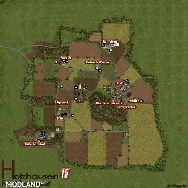 Holzhausen Map V Mod For Farming Simulator FS LS - Minecraft schone holzhauser