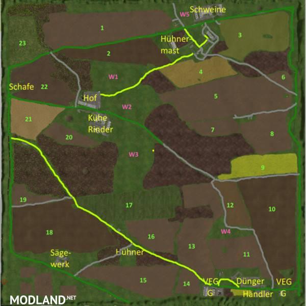 Hohenfelde Map