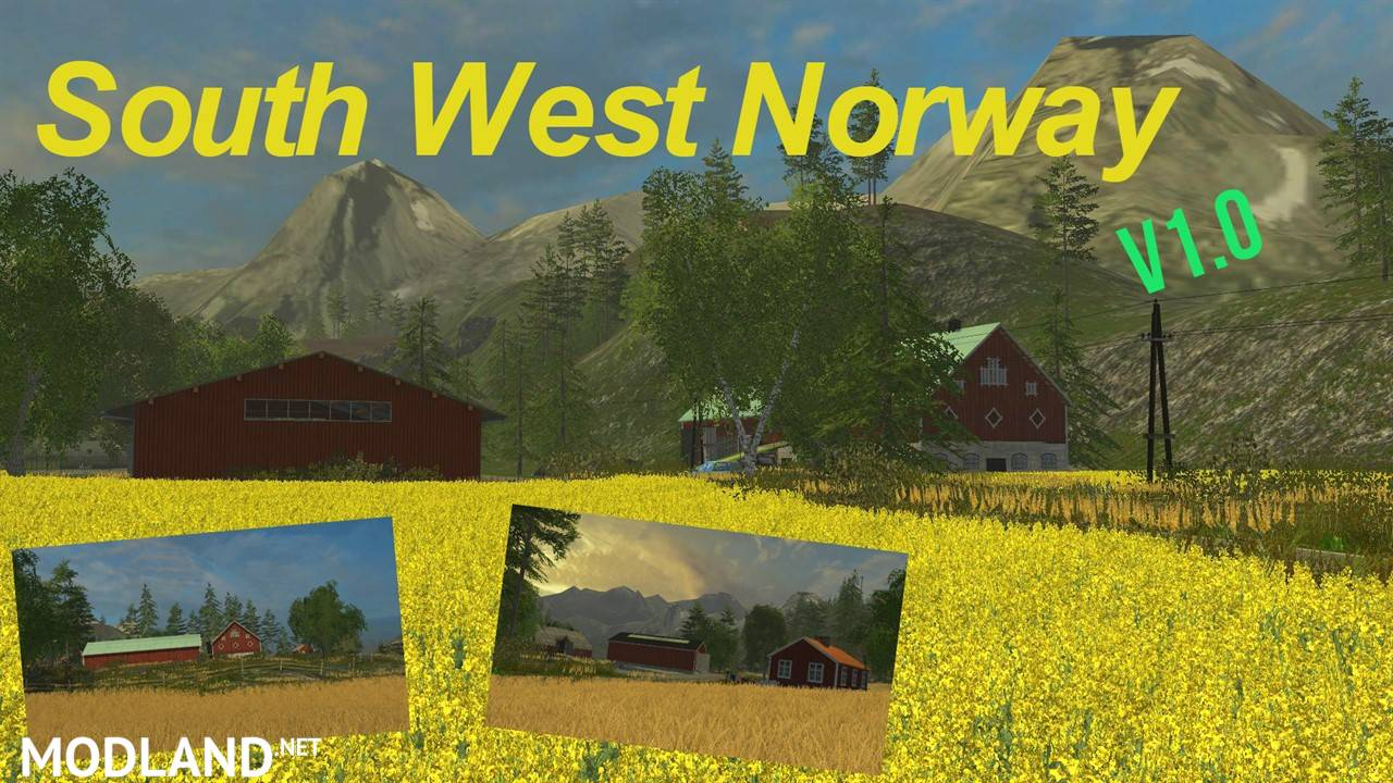 South West Norway Mod For Farming Simulator FS LS - Norway map farming simulator 2015