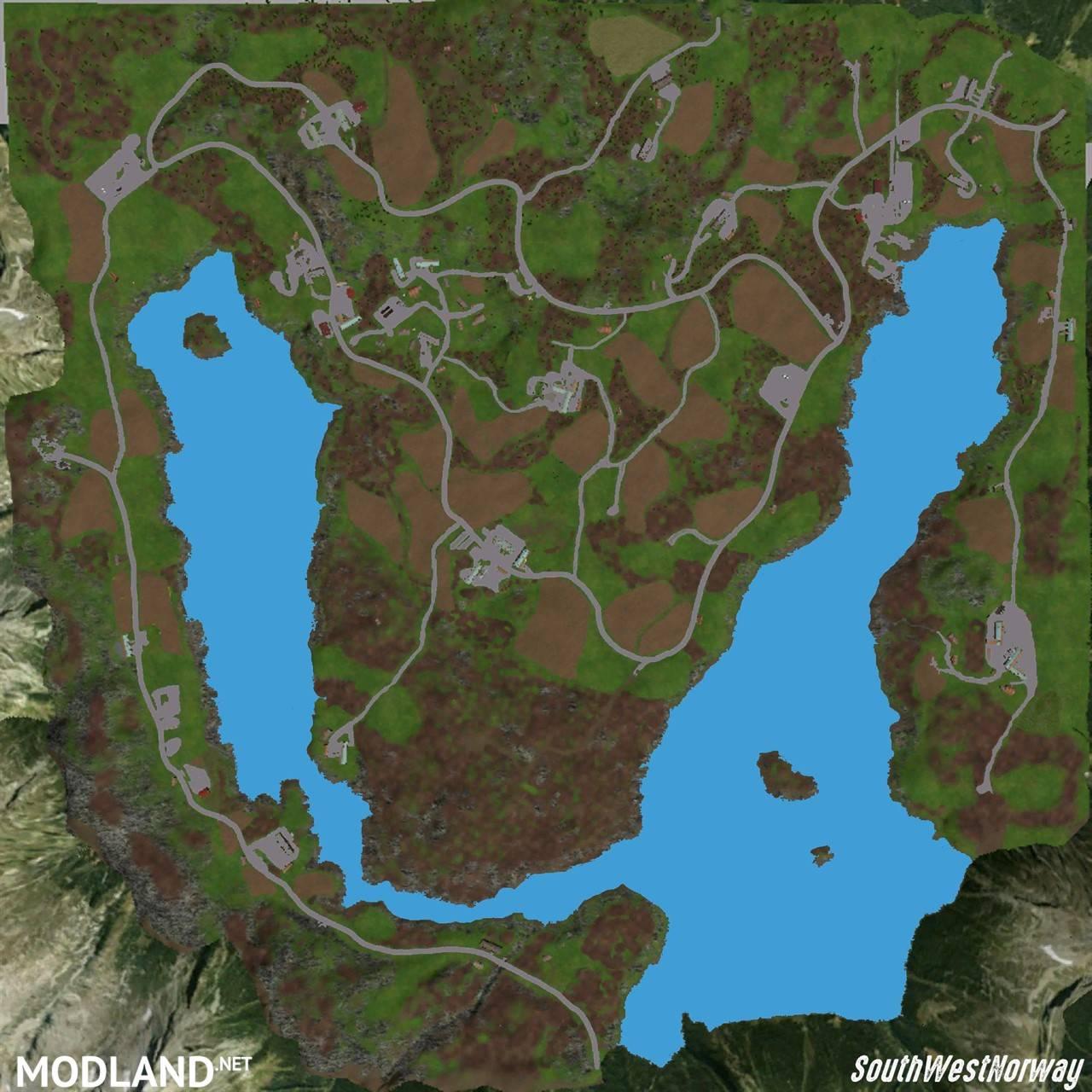 South West Norway Mod For Farming Simulator FS LS - Norway map farming simulator 2013