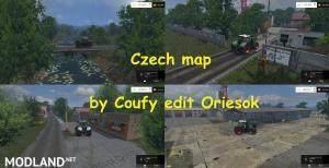 Czech map by Coufy edit Oriesok, 1 photo