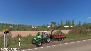 """Finnish map ~ """"Small farm"""" ~ V2, 2 photo"""