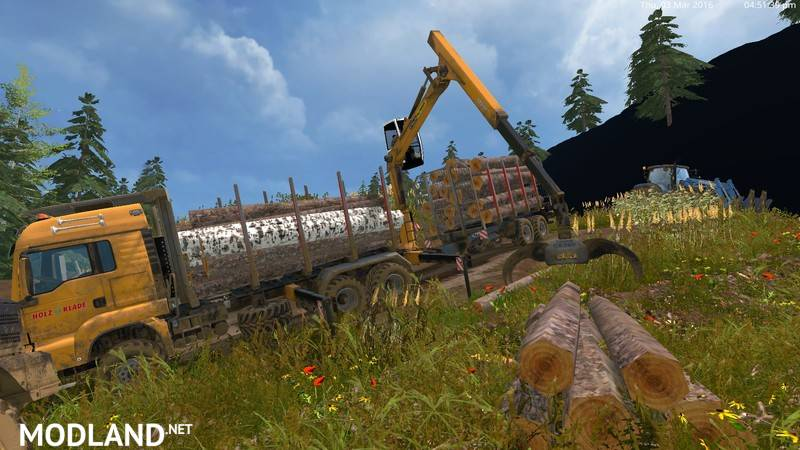 MAN TGS 33.440 Forestry Truck & Trailers v 0.7 WIP