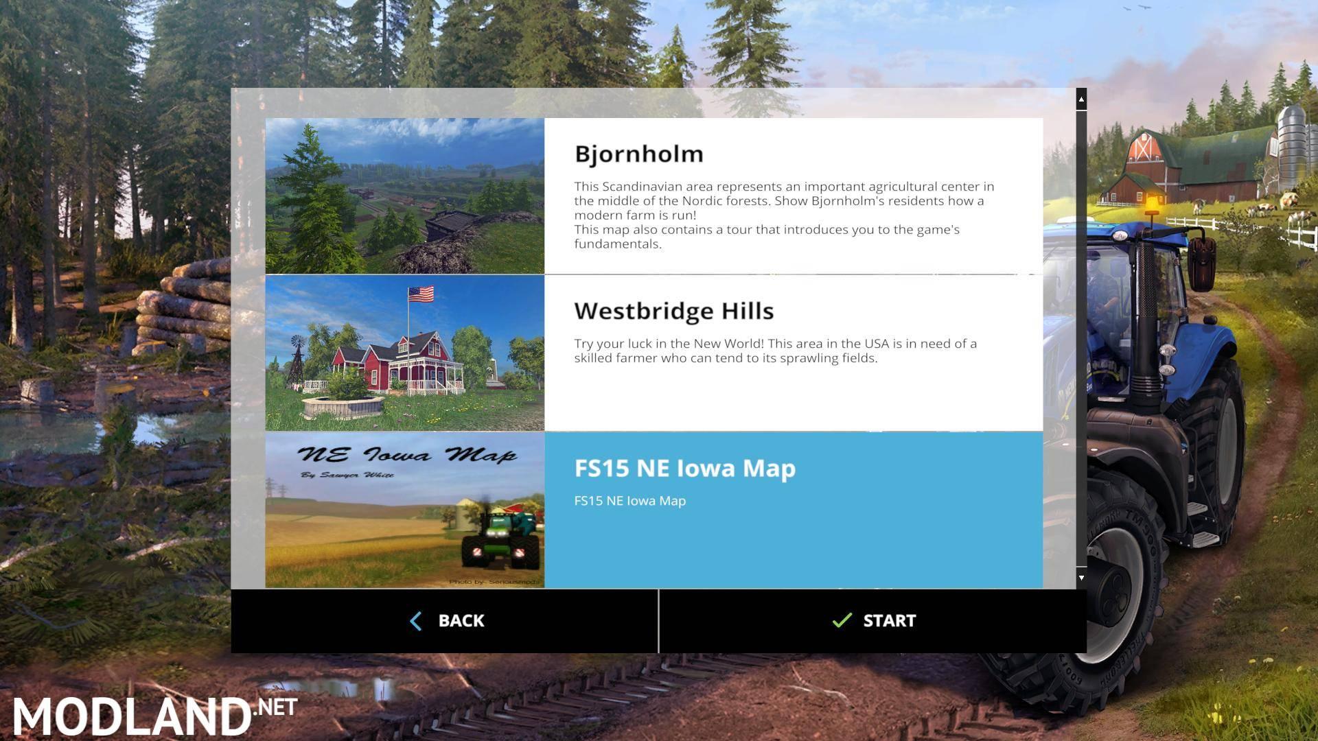 Ne Iowa Map 15 v 1 0 mod for Farming Simulator 2015 / 15 | FS, LS