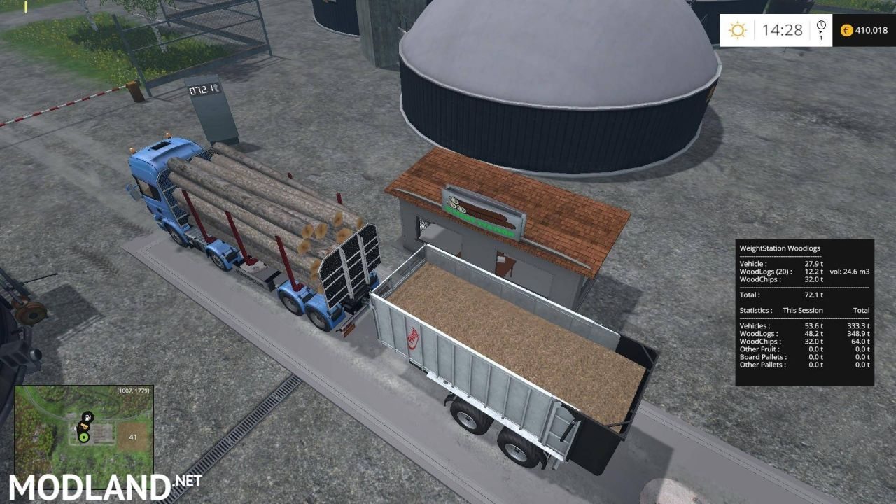 WeightStation For Wood Logs Placeable