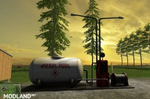 Fuelstation with Lights, 1 photo
