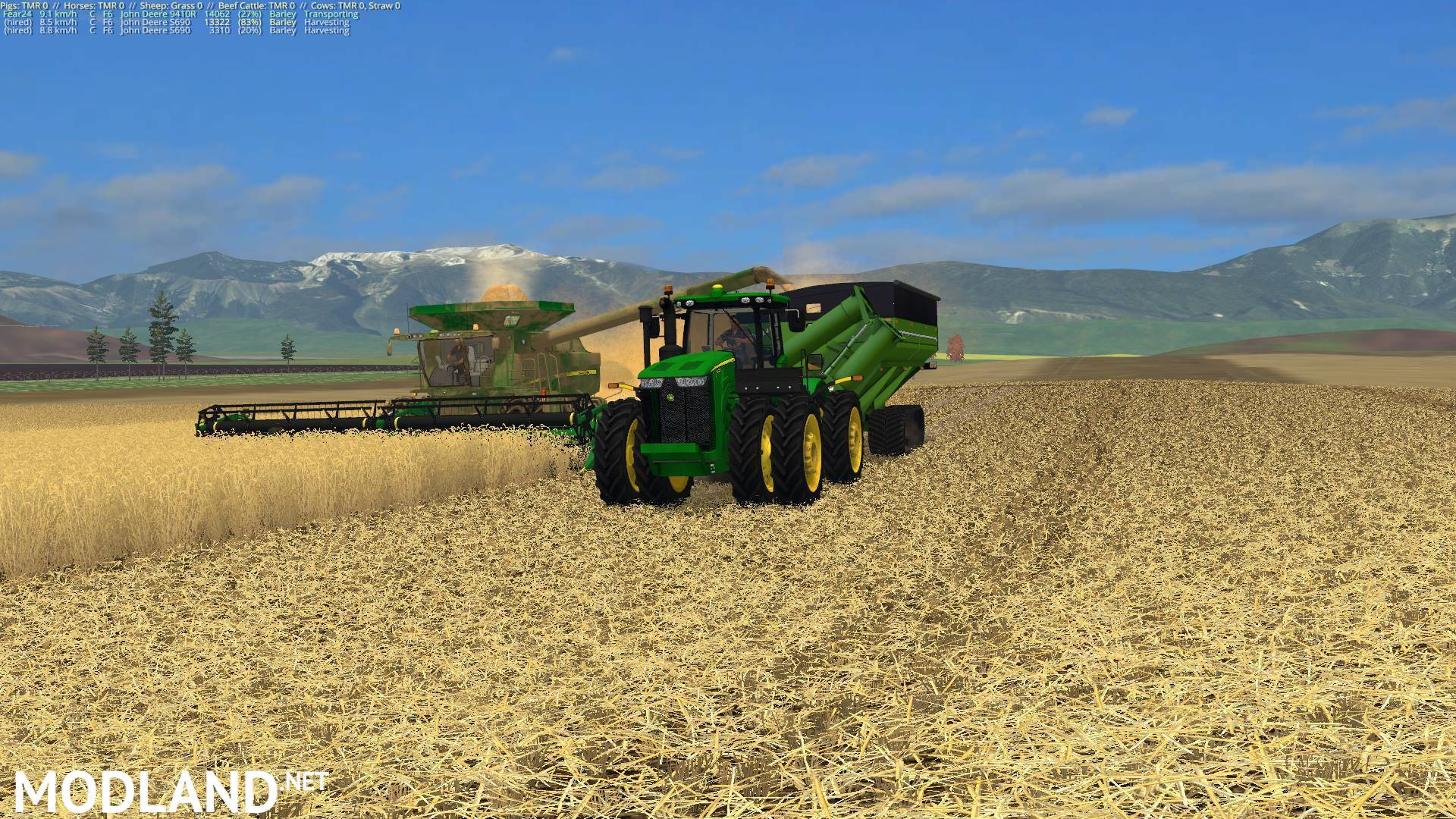 John Deere S Series Combine Pack mod for Farming Simulator ...