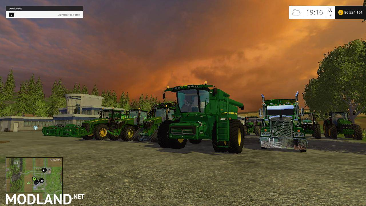 John Deere Mega Pack mod for Farming Simulator 2015 / 15