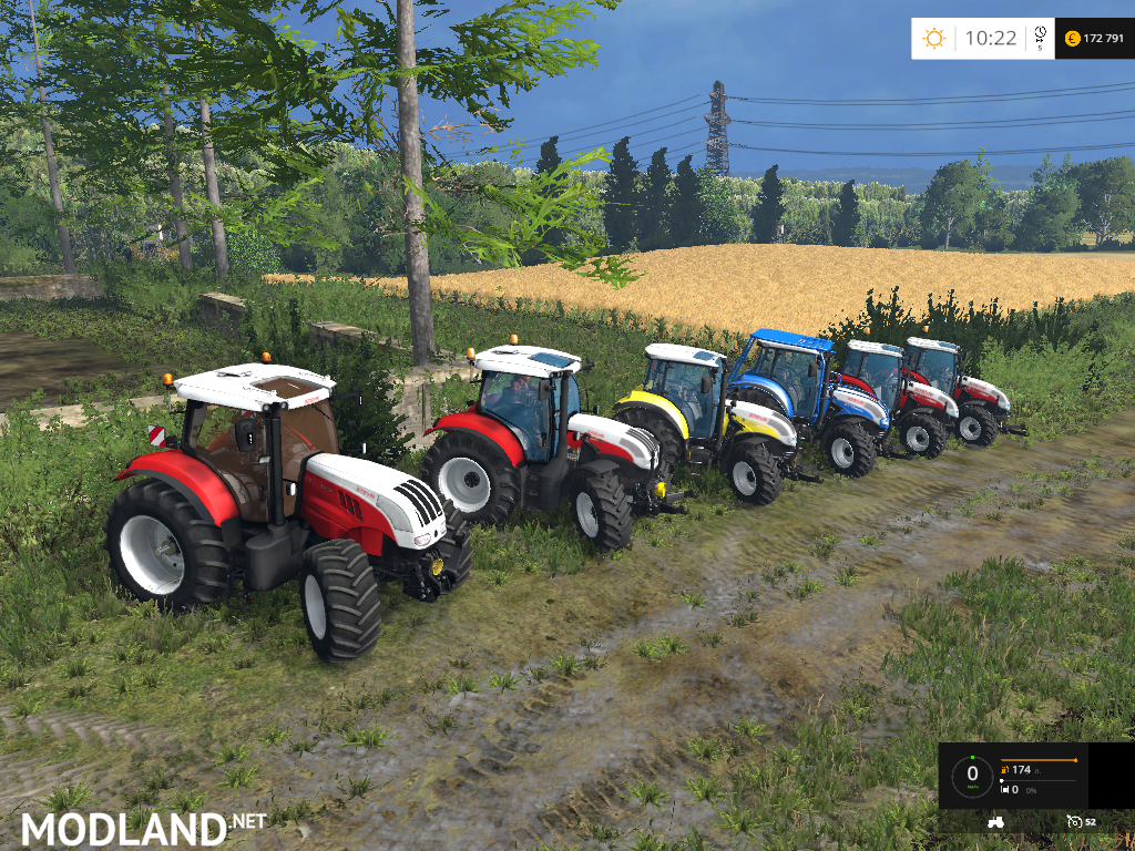 Farming Simulator Tractors : Steyr tractors pack mod for farming simulator
