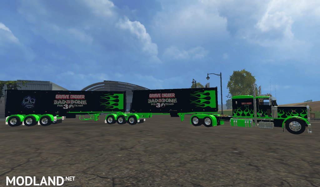 monster jam truck trailer pack mod for farming simulator 2015 15