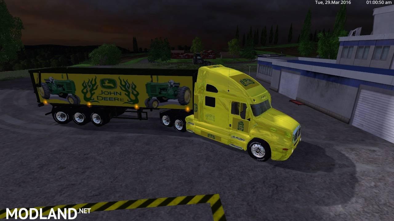 John Deere Kenworth Cat Truck And John Deer Semi Trailer V