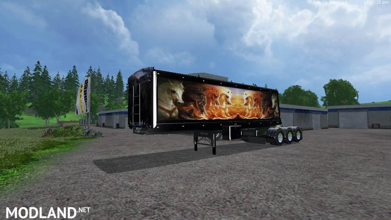 Grave Digger PeterBilt 379 truck & Trailer & Volvo Truck