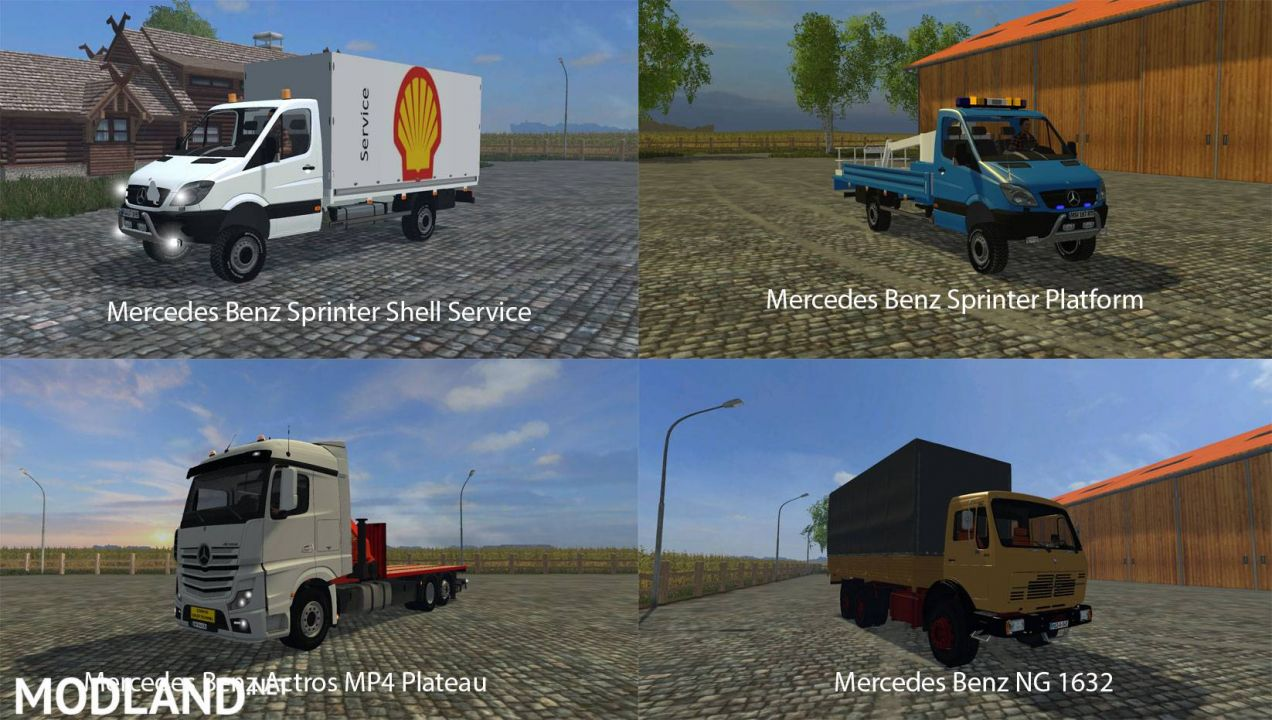 FS15 Big Mods Pack V21 Mercedes Benz Pack