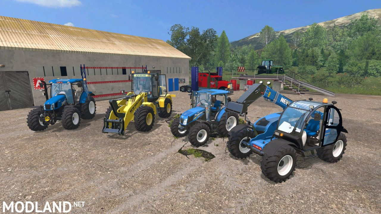 New Holland loader pack + New Holland T4 and T6