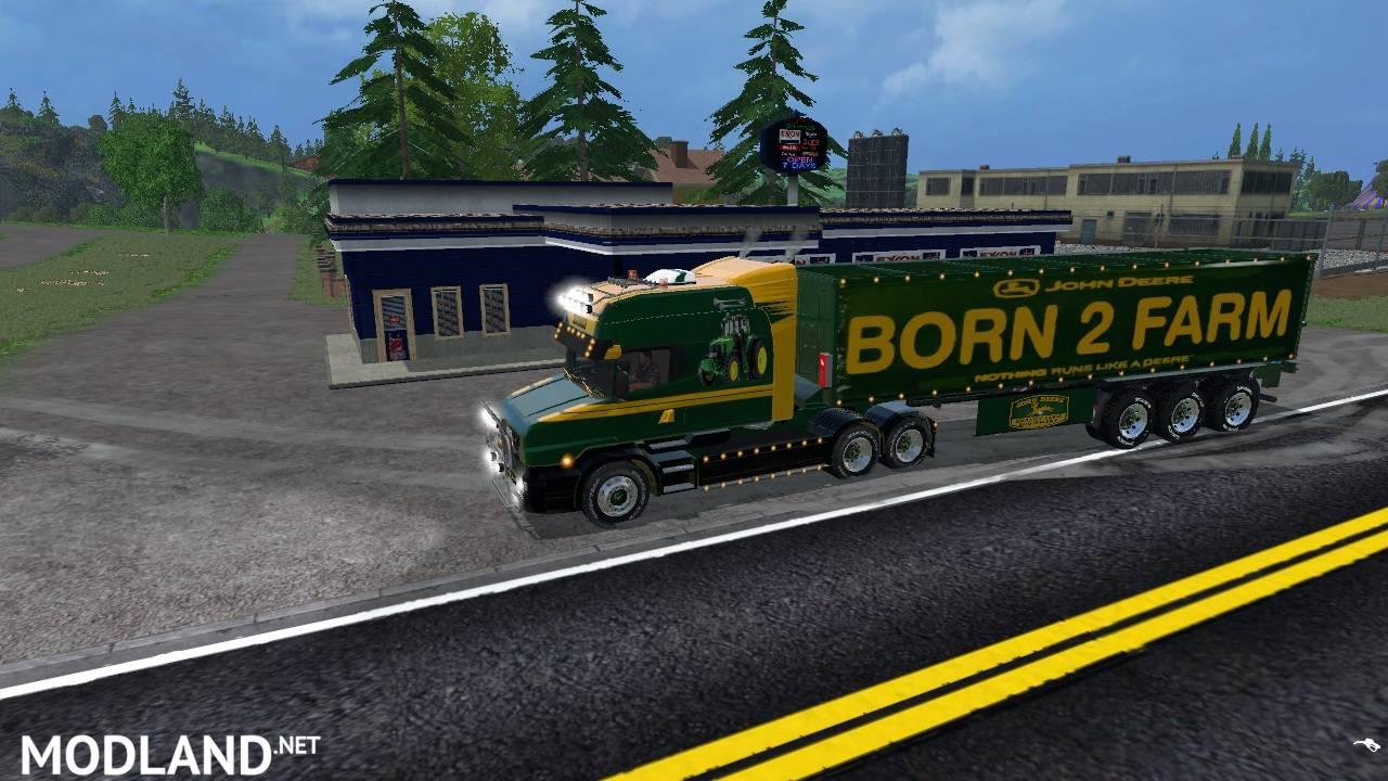 John Deere Scania T164-580 Longline Truck