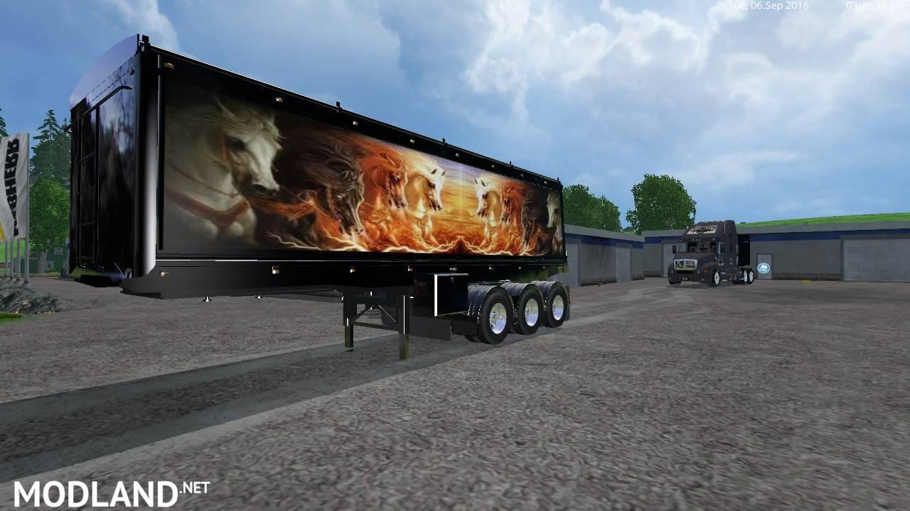 Grave Digger PeterBilt 379 truck & Trailer & Volvo Truck & Trailer v 1.1 by Eagle355th