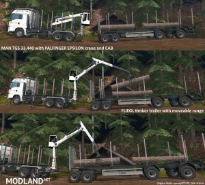 MAN TGS 33.440 Forestry Truck & Trailers v 0.7 WIP, 4 photo