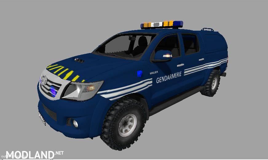 Toyota Hilux Gendarmerie V 1 0 Mod For Farming Simulator