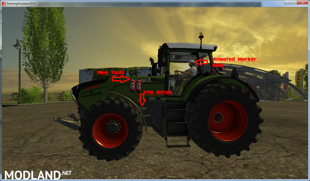 Tractor Simulator 2 : Fendt vario v mod for farming simulator