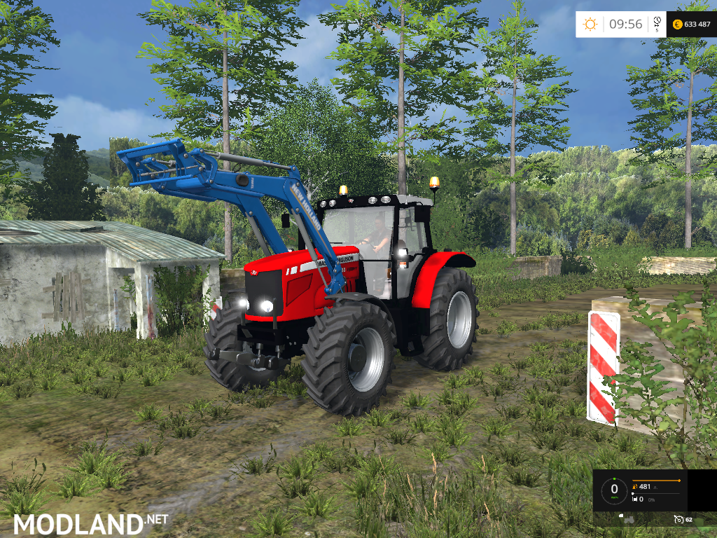 Farming Simulator Tractors : Massey ferguson with fron loader mod for farming