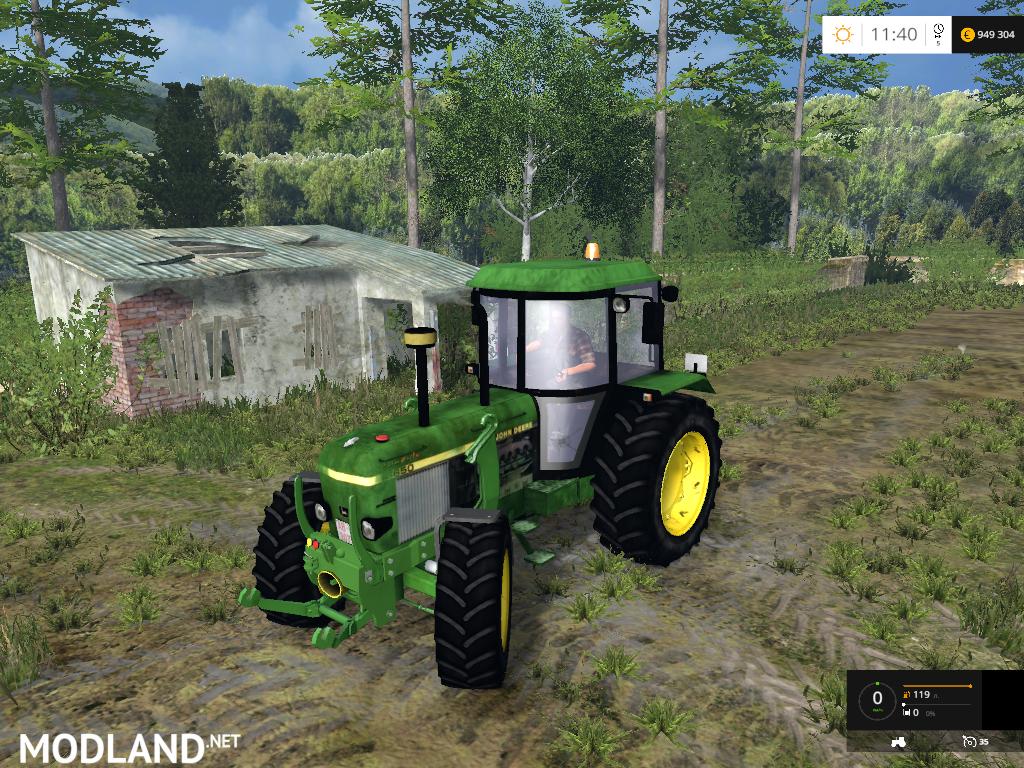 Farming Simulator Tractors : John deere fl v mod for farming simulator