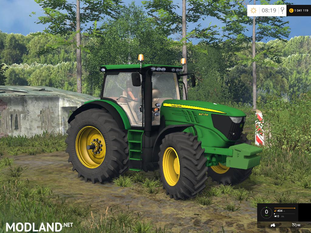 Farming Simulator Tractors : John deere r mod for farming simulator fs
