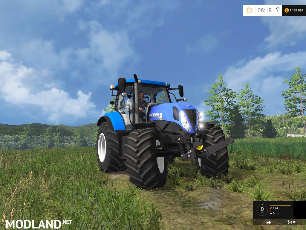 Farming Simulator Tractors : New holland t v beta mod for farming simulator