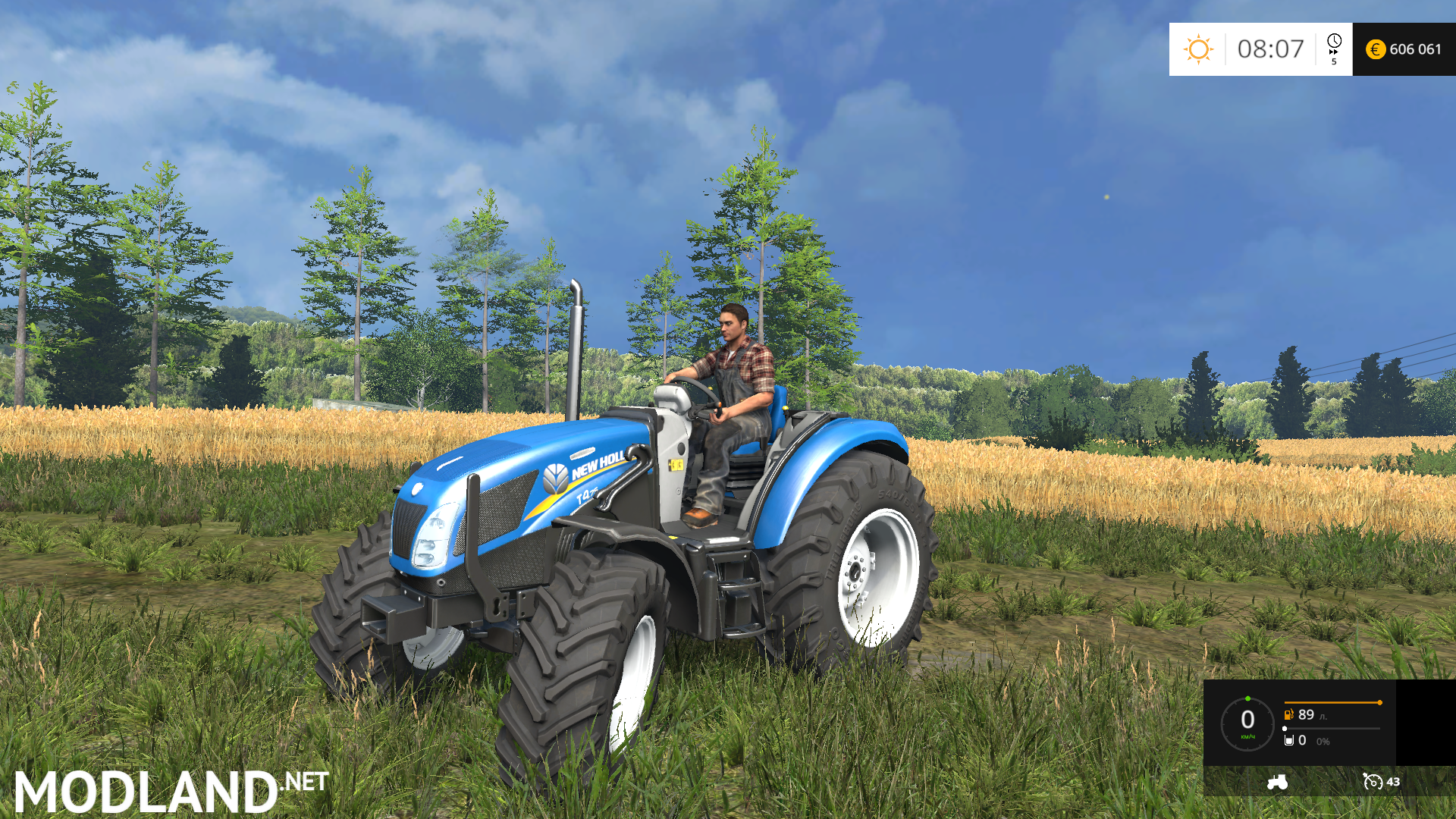 New Holland Tractor Roofs : New holland t no roof v mod for farming simulator