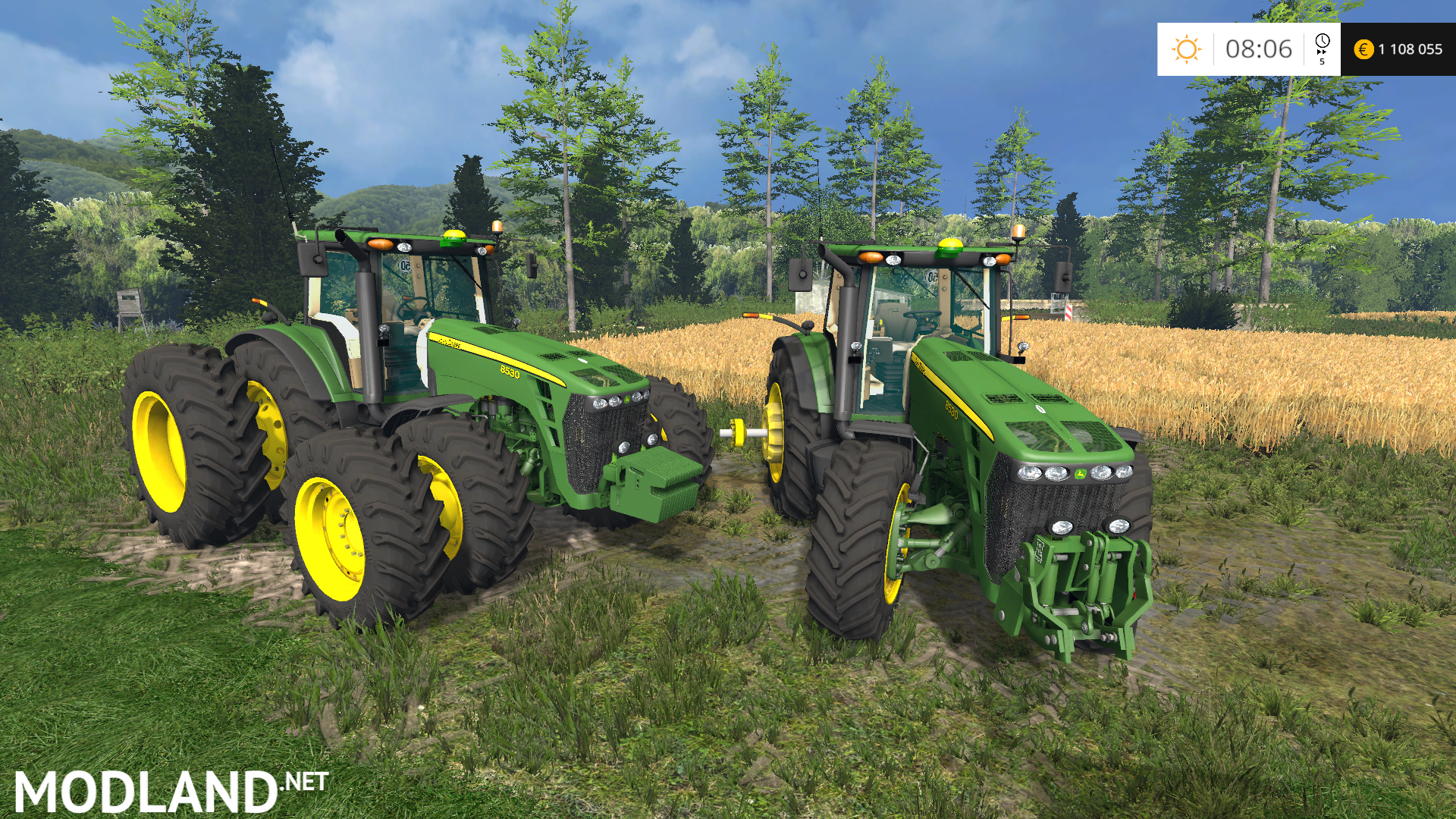 John Deere 8530 USA v 2 0 mod for Farming Simulator 2015