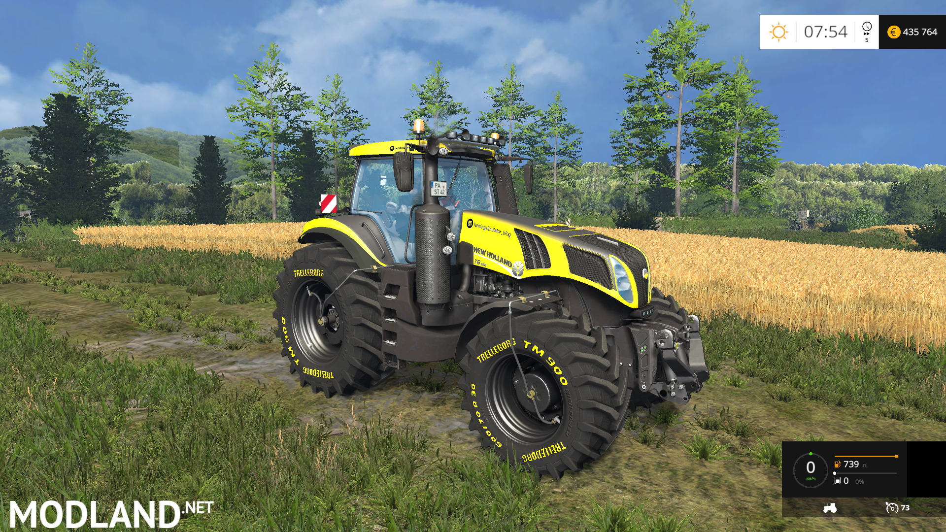 Farming Simulator Tractors : New holland t fs edition mod for farming simulator