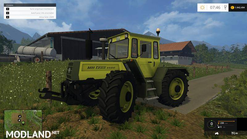 mb trac 1500 mod for farming simulator 2015 15 fs ls. Black Bedroom Furniture Sets. Home Design Ideas