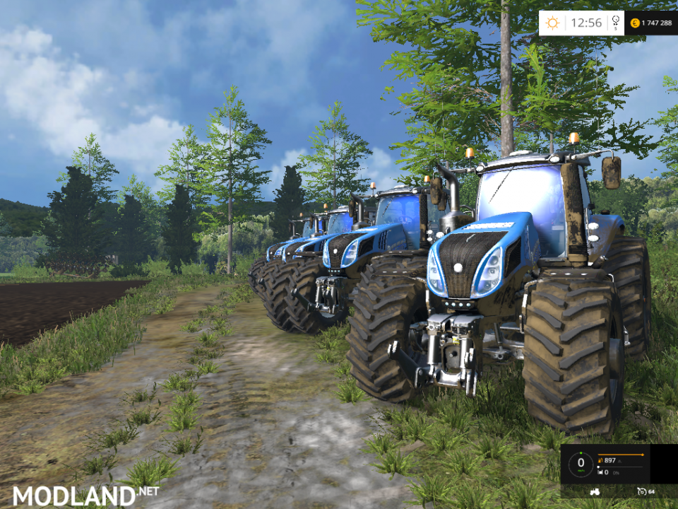 Blue New Holland T8S 4 Pack Final Version