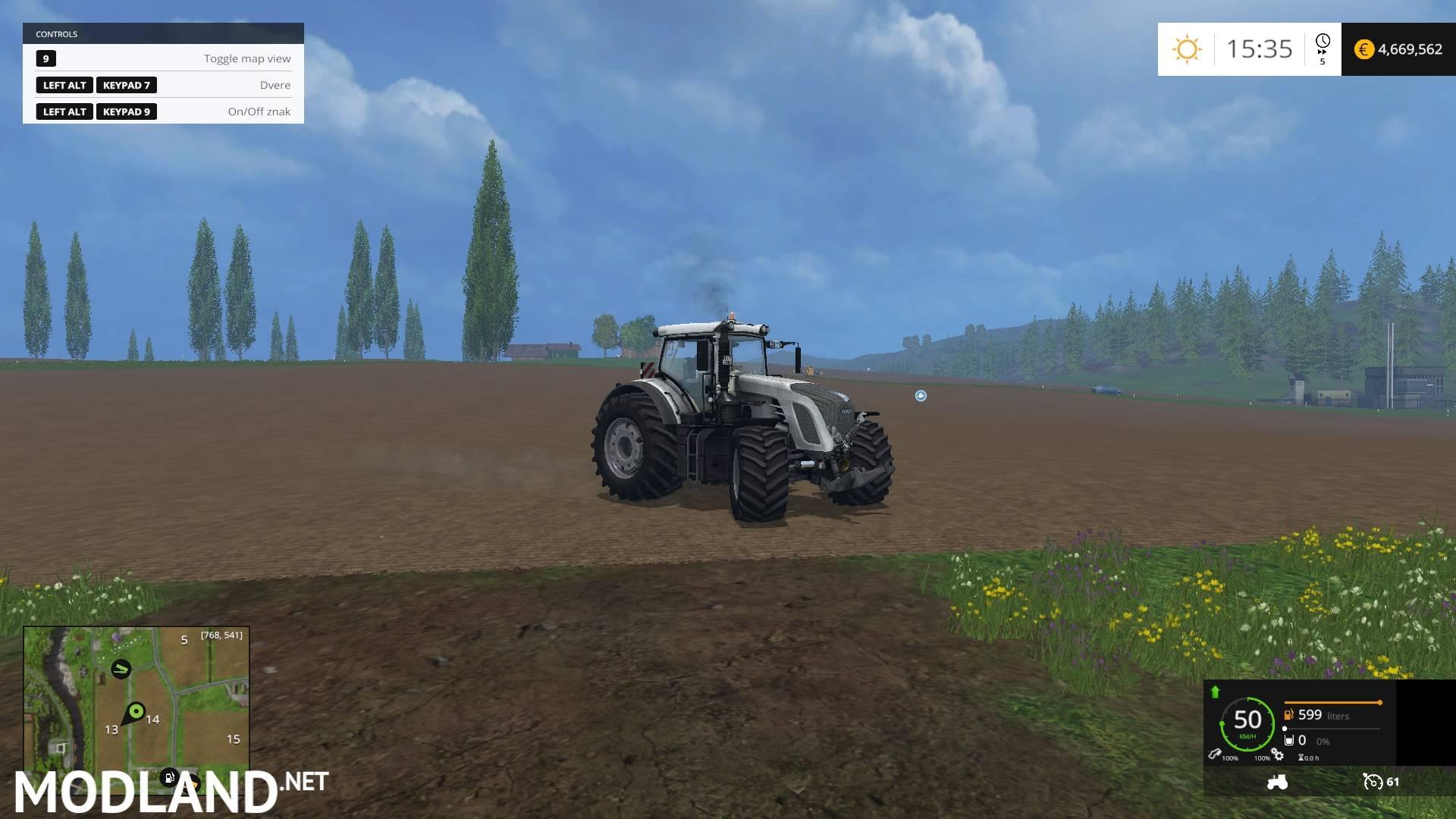 Fendt 933 Vario White Edition mod for Farming Simulator 2015 / 15