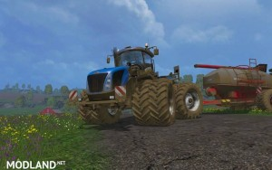 New Holland T9560 Changing Tires v1.1