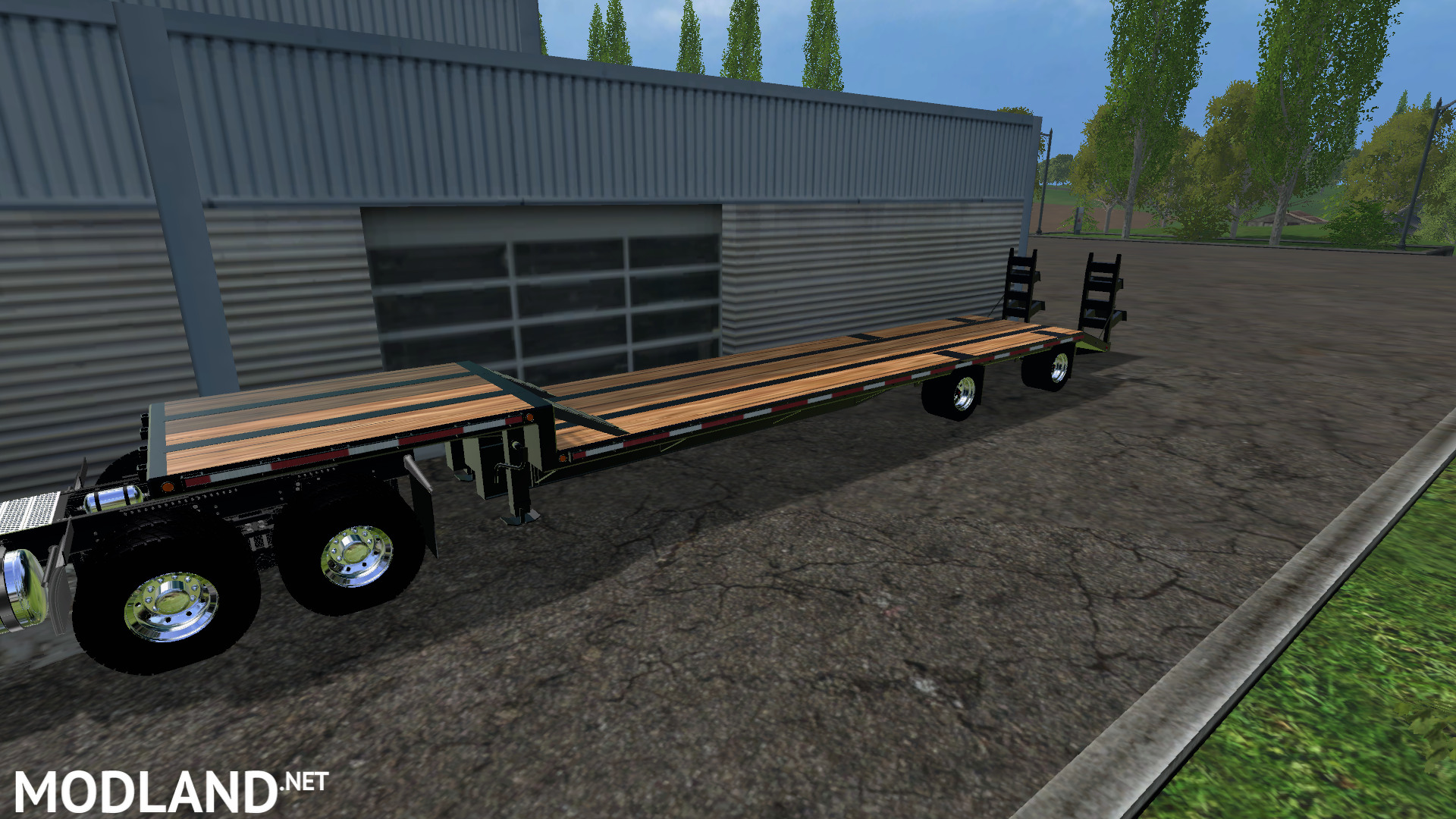 Drop Deck Trailer on john deere s