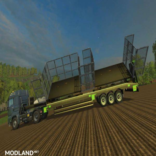 Low Loader With AR Function Mod For Farming Simulator 2015