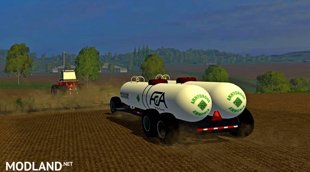 Double Anhydrous Tank Wagon Mod For Farming Simulator 2015