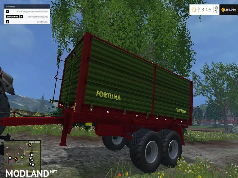 Fortuna ftd150 trailer mod for farming simulator 2015 15 fs ls 2015 mod