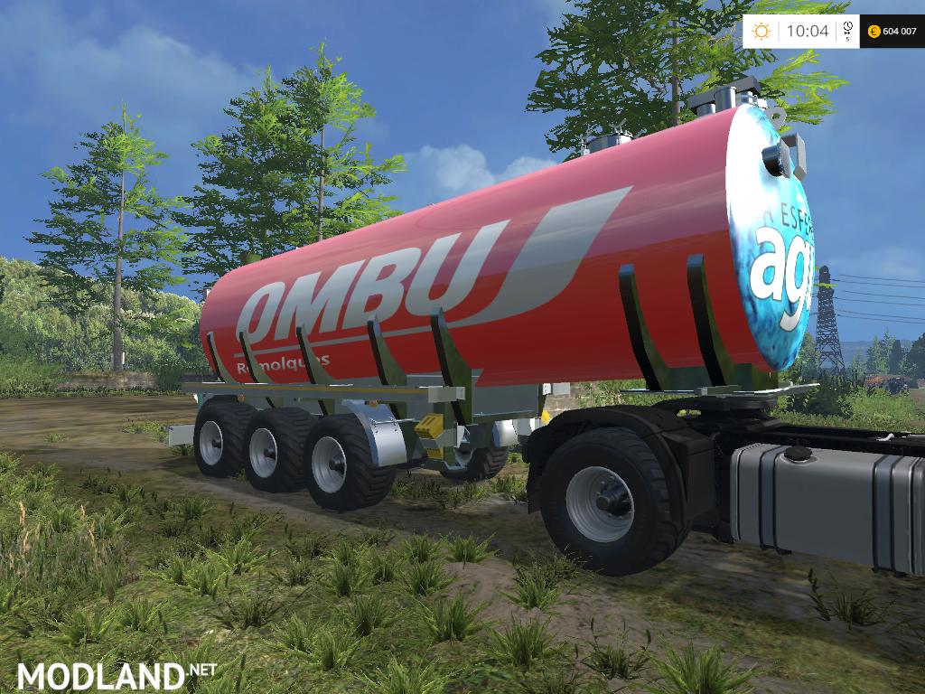 Ombu tanque cisterna agua mod for farming simulator 2015 for Tanque cisterna
