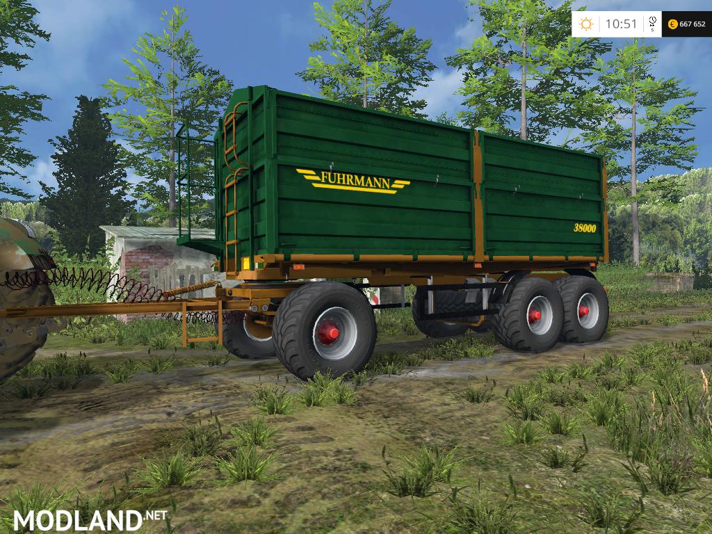 Fuhrmann 3aki38 Trailer Mod For Farming Simulator 2015