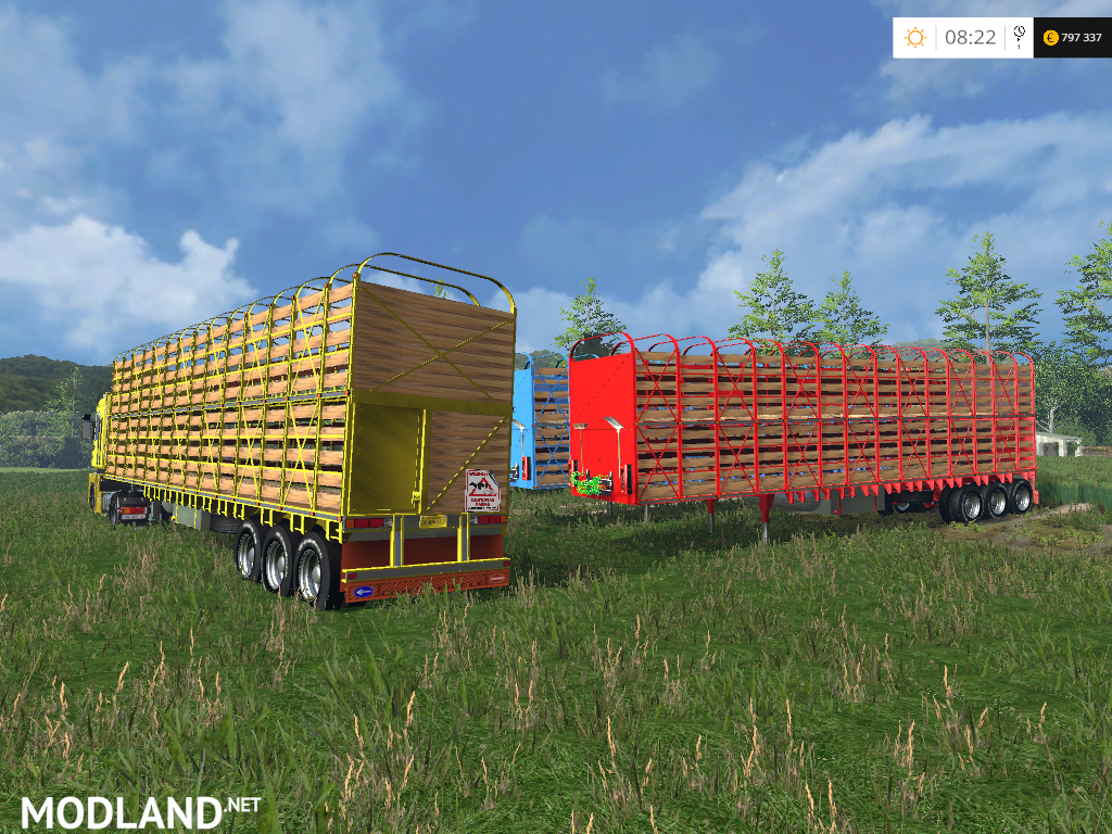 US Livestock Trailer v 1.0 Multicolor mod for Farming ...