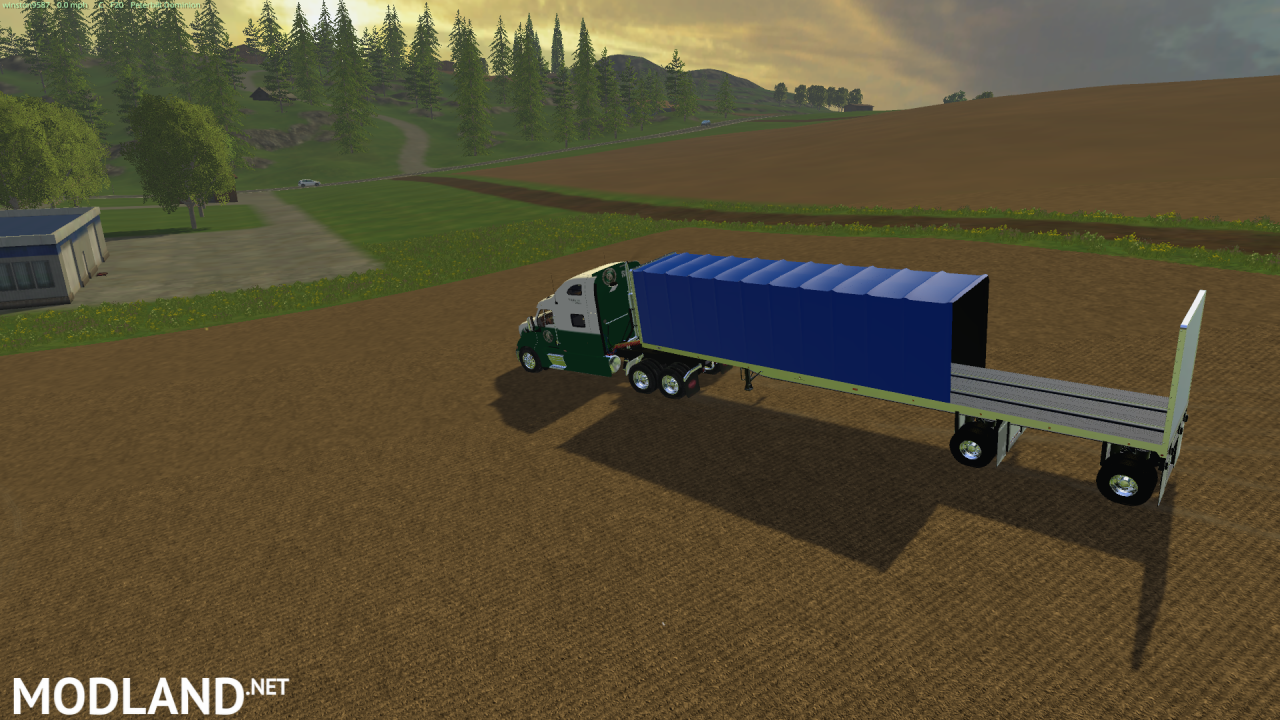 Flatbed Conestoga trailer