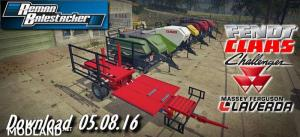 Pack Balestacker And Baler Attacher v 1.1 Fix Colors Wheels - External Download image
