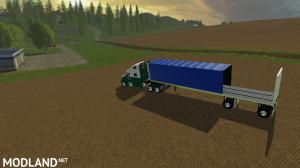 Flatbed Conestoga trailer, 1 photo